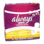 Always - Leakguard Plus Maxi Pads Regular Lightly Scented 45 ea 0003700047764  / UPC 003700047764
