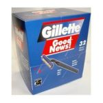 Gillette - 32 New Disposable Razor Twin Blades Great Deal 3 ea 0004740004472  / UPC 004740004472