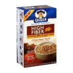Quaker Oats - Instant Oatmeal High Fiber Cinnamon Swirl 0010101022269  / UPC 010101022269