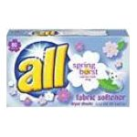 All - Dryer Sheets 80 sheets 0011111680500  / UPC 011111680500
