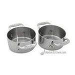 All Clad - All Clad Set Of Two Soup Ramekins - Stainless Steel Finish 0011644003371  / UPC 011644003371