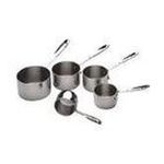 All Clad - All-Clad 5-Cup Measuring Cup Set - Stainless Steel Finish 0011644003395  / UPC 011644003395