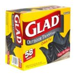 Glad -  Outdoor Trash Bags With Easy Tie Flaps 0012587701805