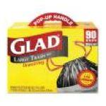 Glad -  Trash Bags Drawstring 30 Gallons Black 0012587703137