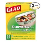 Glad -  Small Compostable Biodegradable Kitchen Bags 0012587781623
