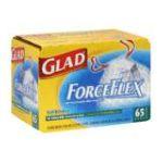 Glad -  Kitchen Bags Tall Drawstring Force Flex 65 ct 0012587781883