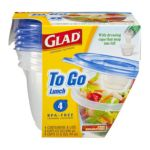 Glad -  To Go Lunch Containers With Lids 0012587784044