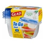 Glad -  To Go Snack Containers 0012587784051
