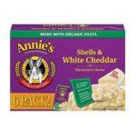 Annie's - Shells & White Cheddar 0013562300723  / UPC 013562300723