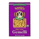 Annie's - Organic Gemelli Pasta 0013562301010  / UPC 013562301010