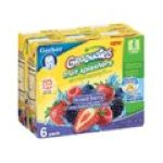 Gerber - Fruit Splashers Mixed Berry 0015000012564  / UPC 015000012564