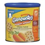 Gerber -  Graduates Finger Foods Canister Carrot Wagon Wheels Canisters 0015000045104