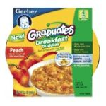 Gerber - Breakfast Buddies Hot Cereal With Real Fruit Peach 0015000045371  / UPC 015000045371