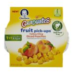 Gerber - Fruit Pick Ups Peach 0015000048655  / UPC 015000048655