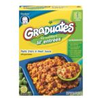 Gerber -  Graduates Lil' Entrees Pasta Stars In Meat Sauce With Green Beans 0015000048785