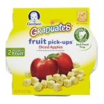 Gerber - Fruit Pick-ups Diced Apples 0015000048983  / UPC 015000048983