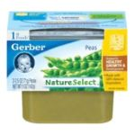 Gerber - 1st Foods Natureselect Peas Each 0015000071165  / UPC 015000071165