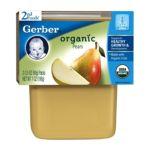 Gerber -  2nd Foods Baby Foods Organic Pears 0015000127046