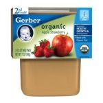 Gerber -  2nd Foods Organic Apple Strawberry 0015000127053
