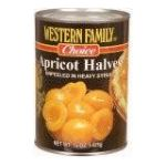 Western family -  Apricots Unpeeled In Heavy Syrup Halves 0015400012201