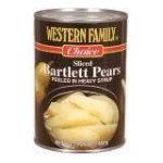 Western family -  Pears Bartlett Slices 0015400012898