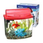 All glass aquarium - Mini Bow Desktop Aquarium Kit In Red 0015905177733  / UPC 015905177733