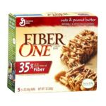 Fiber One - Chewy Bars Oats & Peanut Butter 0016000143456  / UPC 016000143456