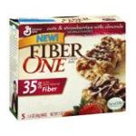 Fiber One - Chewy Bars Oats & Strawberries With Almonds 1 box,5 bars 0016000159327  / UPC 016000159327