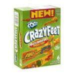 General Mills -  Fruit Flavored Snacks Crazy Feet Tropical Thrill 0016000168466
