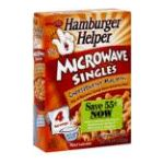 Hamburger Helper - Microwave Singles 0016000197480  / UPC 016000197480