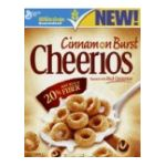 Cheerios - Cinnamon Burst 0016000416154  / UPC 016000416154