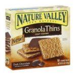 Nature Valley - Granola Thins Dark Chocolate 1 box,10 pouches 0016000418882  / UPC 016000418882