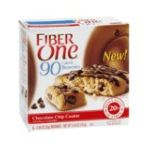 Fiber One - Breakfast Bars Brownie Chocolate Chip Cookie 5.34 0016000426412  / UPC 016000426412