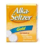Alka-seltzer - Relief Aspirin Free Gold Effervescent Tablets 36 tablet 0016500041085  / UPC 016500041085