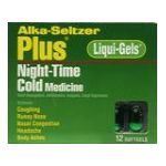 Alka-seltzer - Night-time Cold Medicine 12 softgels 0016500053019  / UPC 016500053019