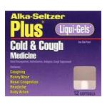 Alka-seltzer - Cold & Cough Medicine 12 softgels 0016500054016  / UPC 016500054016