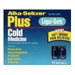 Alka-seltzer - Cold Medicine 12 softgels 0016500055013  / UPC 016500055013