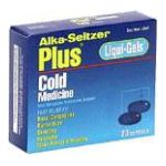 Alka-seltzer - Cold Medicine 20 softgels 0016500055020  / UPC 016500055020