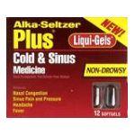Alka-seltzer - Cold & Sinus Medicine 12 softgels 0016500056126  / UPC 016500056126