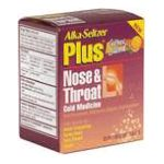 Alka-seltzer - Nose & Throat Cold Medicine 20 effervescent tablet 0016500502548  / UPC 016500502548
