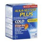 Alka-seltzer - Cold Formula 20 tablet 0016500505938  / UPC 016500505938