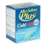 Alka-seltzer - Cold Regular Flavor Effervescent Tablets 20 tablet 0016500512240  / UPC 016500512240
