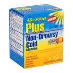 Alka-seltzer - Non-drowsy Cold Medicine 20 tablet 0016500519102  / UPC 016500519102