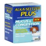 Alka-seltzer - Mucus & Congestion 20 tablet 0016500530817  / UPC 016500530817