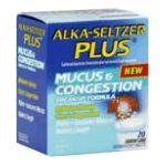 Alka-seltzer -  Mucus & Congestion 20 tablet 0016500530817