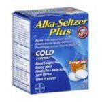 Alka-seltzer -  Cold Formula 20 0016500537595