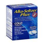 Alka-seltzer - Cold Formula Sparkling Original 0016500537649  / UPC 016500537649