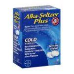 Alka-seltzer - Cold Formula 36 effervescent tablet 0016500537656  / UPC 016500537656