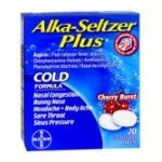 Alka-seltzer - Cold Formula,1 count 0016500537670  / UPC 016500537670