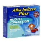 Alka-seltzer - Cold Plus Mucus & Congestion Liquid Gel 20 0016500537786  / UPC 016500537786